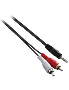 V7 Jack to RCA Cable 1x3.5mm (m) to 2xRCA (m) - Black  0.3m