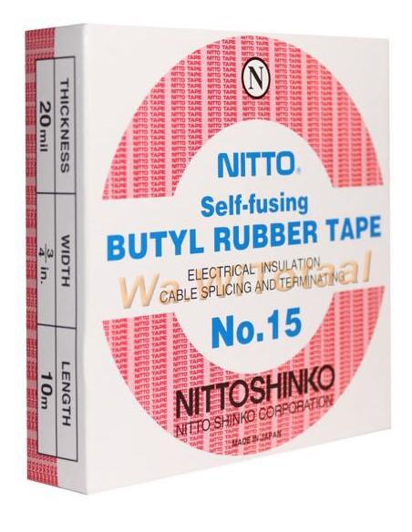 Nitto tape vulcaniserend voor waterdicht maken f-connectoren etc