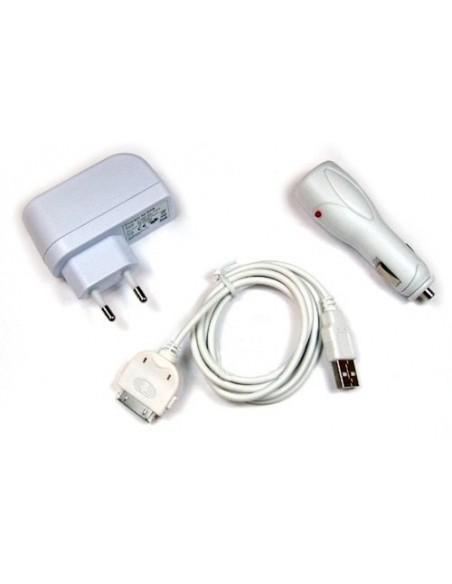 Lader PDA Iphone 3G Accessoiresset 12V Kabel/220V