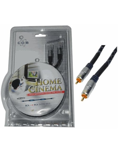 Kabel 1x cinch-ST./1x cinch-ST. 0,5meter AUDIO-HOME-CINEMA 50ohm