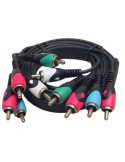 Kabel Stereo/video 5x Cinch Male 1.5mtr
