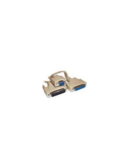 Kabel Serieel D25F-D25M Modem univ. 1.8mtr