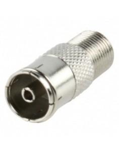 F-Connector adapter van f-female naar coax-female