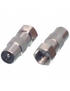 F-Connector f-male/ coax-male in blister