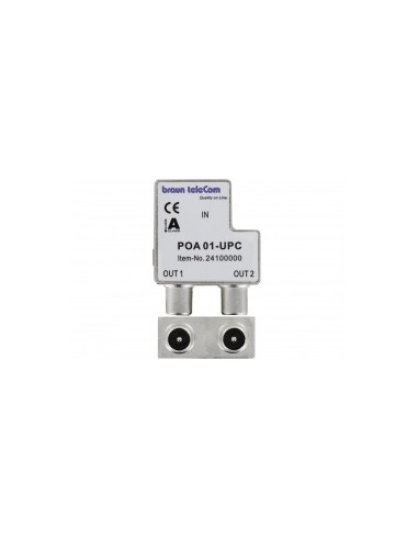 Braun POA-1 UPC opdruk IEC splitter (M-M)