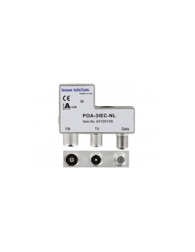 Braun POA-3 IEC opdruk Radio-TV-Modem (M-F-F)