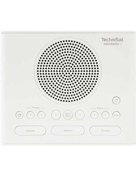 Technisat DigitRadio 51 Dab+ klokradio wit
