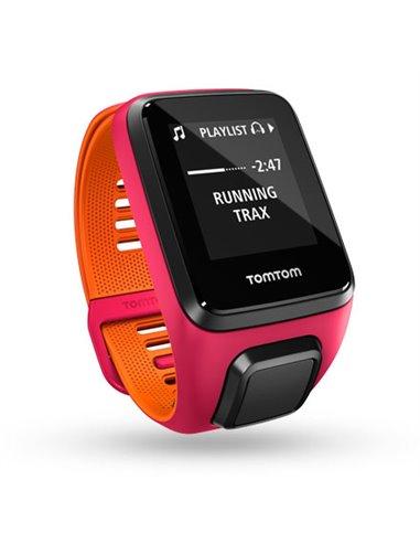 TomTom Runner 3 Cardio + Music, roze/oranje (S)