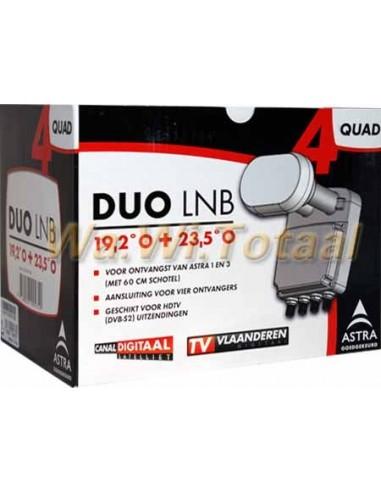 Duo LNB Quad voor ASTRA 1 & 3 HD(voor 60/64cm schotel)