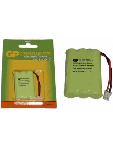GP telefoon accu 3,6V-600MAH NIMH 44X30X10mm T346