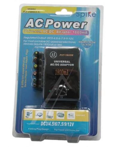 Adapter Spike gestabiliseerd max.1600mA 3-12V
