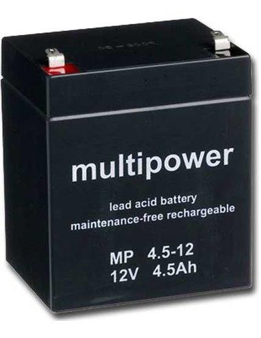 Loodaccu 12V 4.5aH (90 x 70 x 107 mm) MultiPower