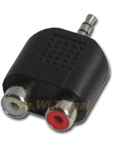 Audio-adapter, 1 x jack-steker 3,5mm stereo, 2 x cinch-contra
