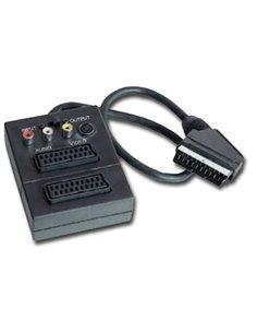 Scart-adapter 2xScart 1xS-VHS/3XCinch Contra+Schakelaar