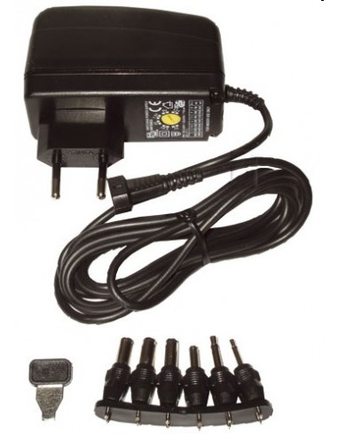 Adapter gestabiliseerd max.1500mA 3-12V, foto wijkt af!
