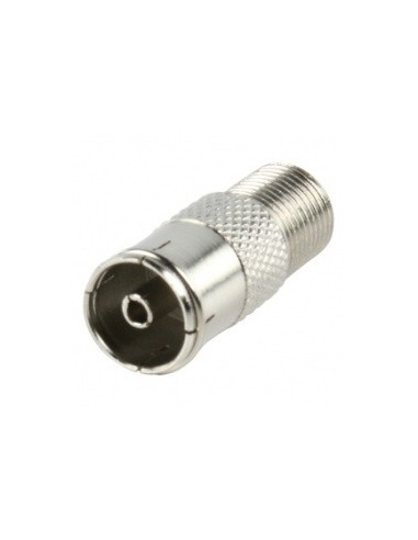 F-Connector adapter van f-female naar coax-female