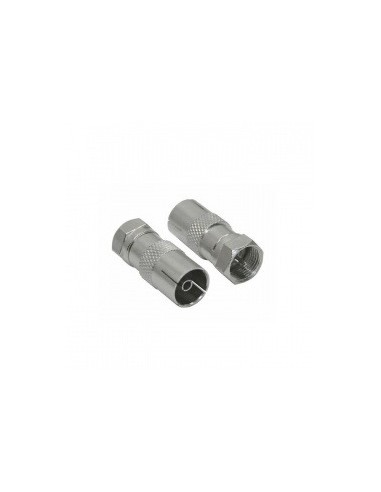 F-Connector f-male/ coax-female in blister